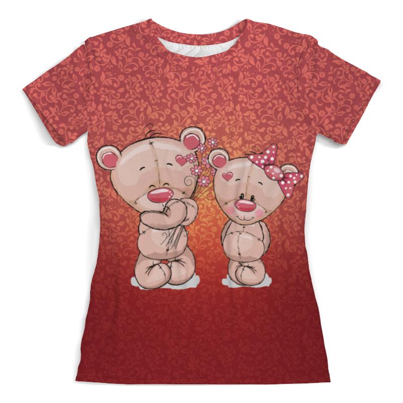 Футболка с полной запечаткой (женская) Printio Влюбленные мишки тедди. парные футболки. футболка с полной запечаткой для девочек printio влюбленные мишки тедди парные футболки