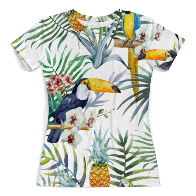 Футболка с полной запечаткой (женская) Printio Пеликан и ананасы футболка с полной запечаткой для мальчиков printio ананасы
