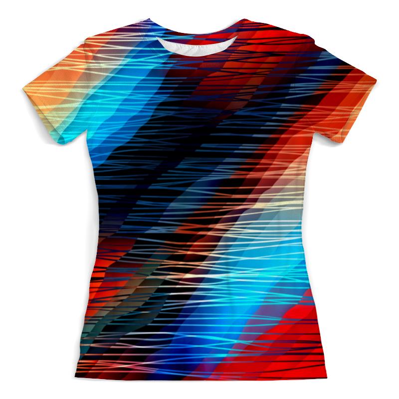 Футболка с полной запечаткой (женская) Printio Цветные текстуры