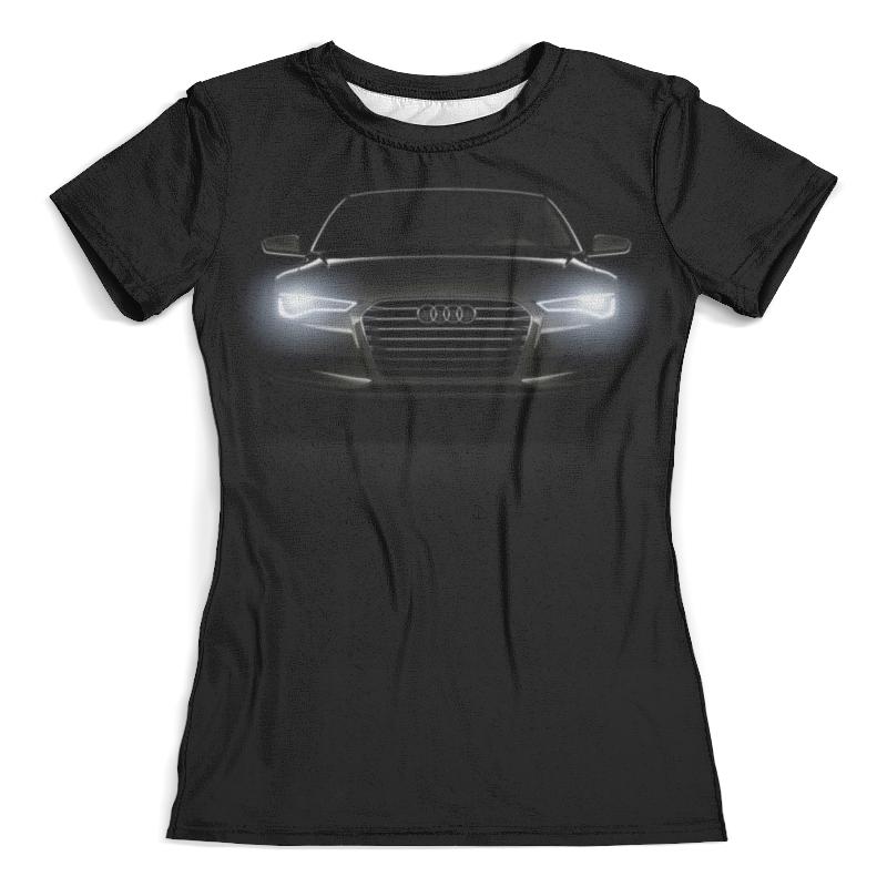 Футболка с полной запечаткой (женская) Printio Audi (ауди)