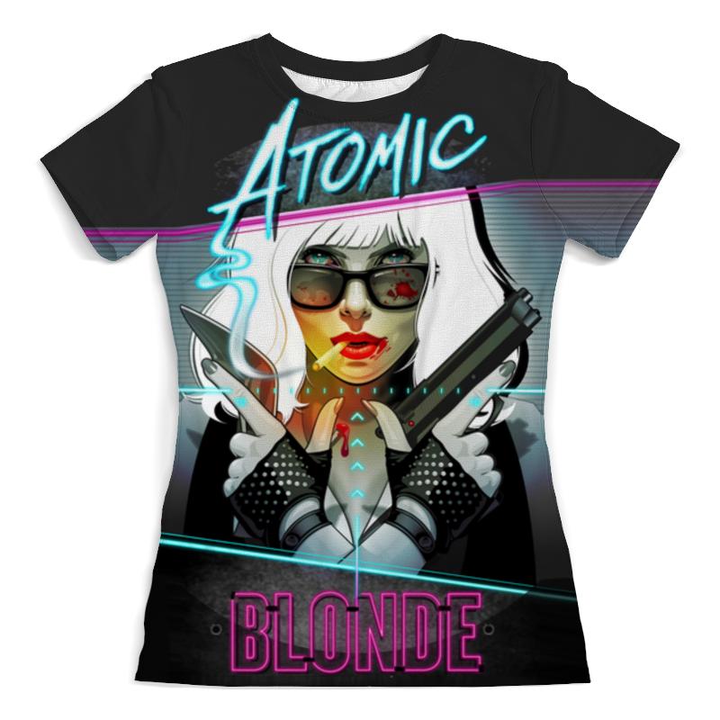 Футболка с полной запечаткой (женская) Printio Atomic blonde горнолыжные палки atomic atomic amt boy черный 80