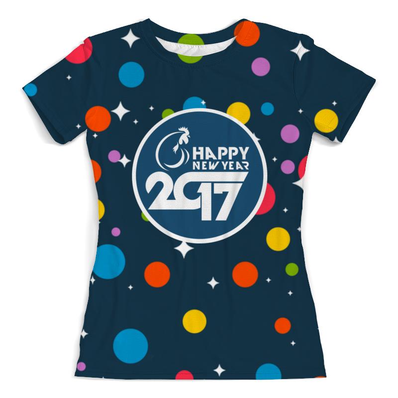 Футболка с полной запечаткой (женская) Printio Happy new year 2017 фартук с полной запечаткой printio happy new year