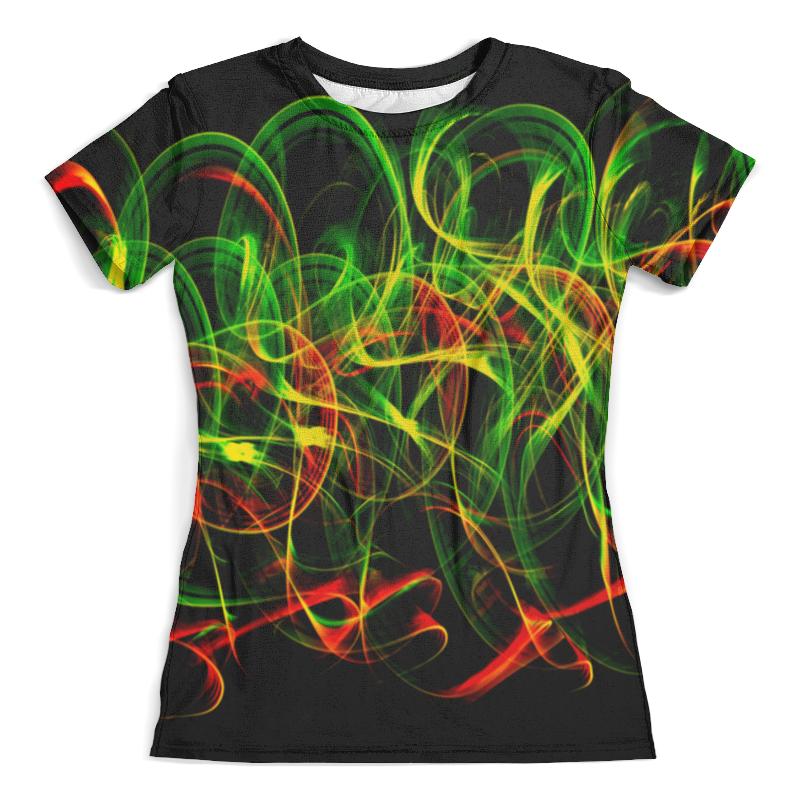Футболка с полной запечаткой (женская) Printio Зелено-красные линии футболка с полной запечаткой для девочек printio зелено белое морское чудовище из глубин