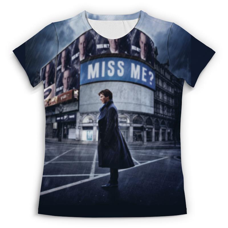 Футболка с полной запечаткой (женская) Printio Sherlock holmes футболка с полной запечаткой для мальчиков printio шерлок холмс sherlock holmes