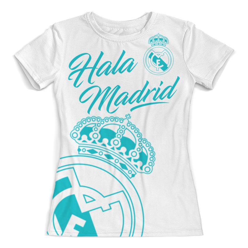 Футболка с полной запечаткой (женская) Printio Реал мадрид рубашка поло с полной запечаткой printio реал мадрид