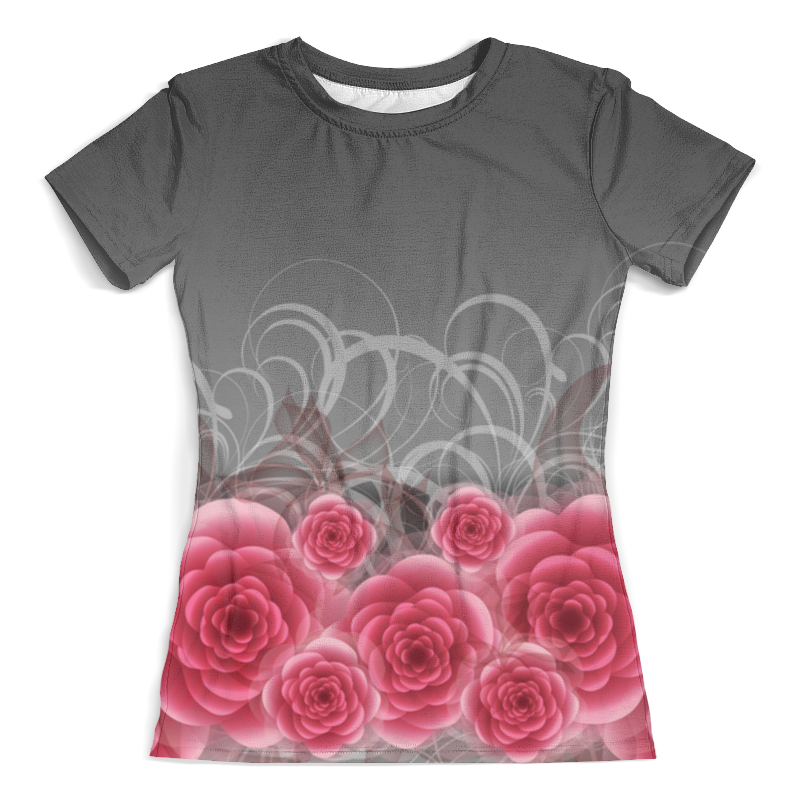 все цены на Футболка с полной запечаткой (женская) Printio Красные розы онлайн