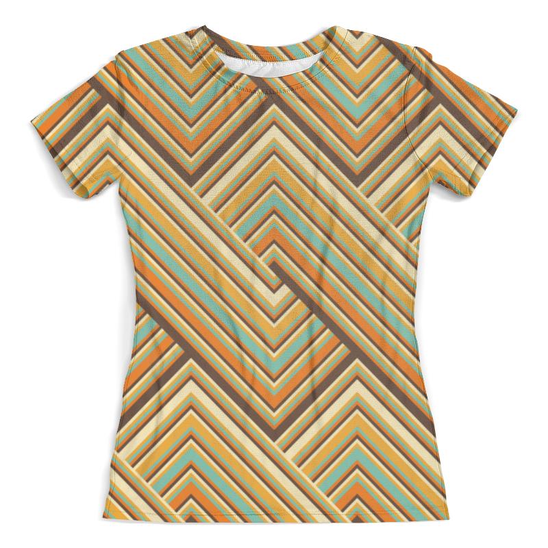 Футболка с полной запечаткой (женская) Printio Цветные линии футболка с полной запечаткой женская printio узор линии