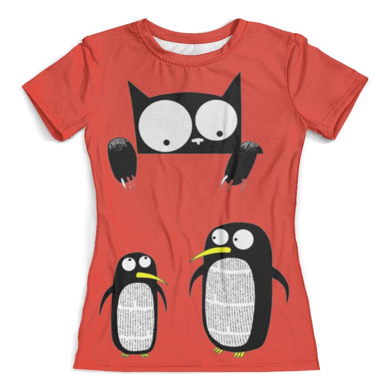 Футболка с полной запечаткой (женская) Printio Пингвины футболка с полной запечаткой для мальчиков printio пингвины