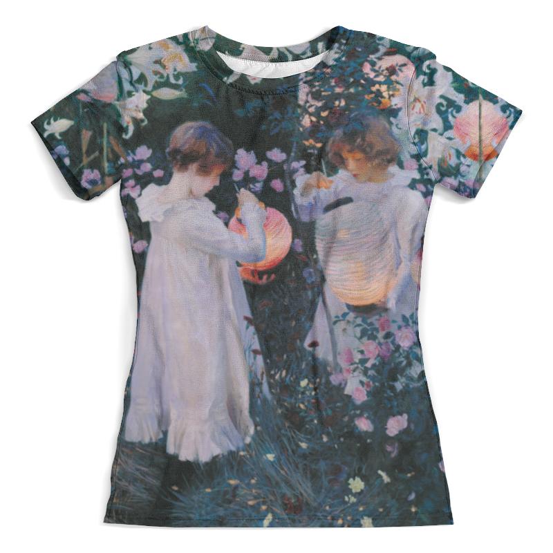 Футболка с полной запечаткой (женская) Printio , лилия, лилия, роза (джон сарджент)