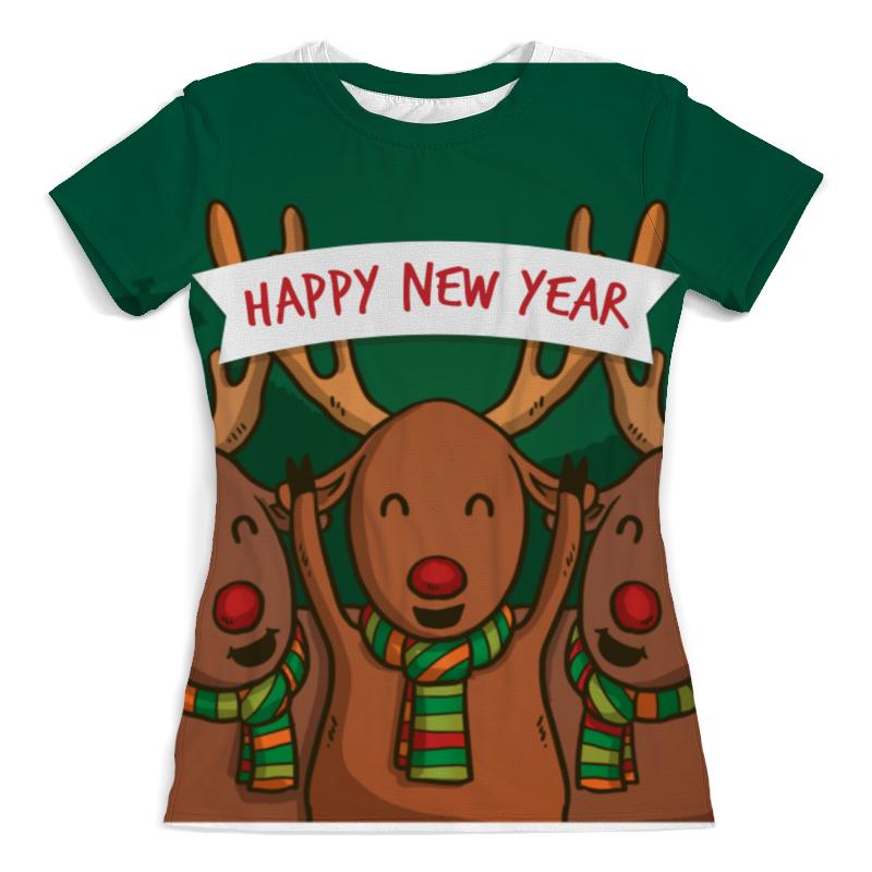 Футболка с полной запечаткой (женская) Printio Happy new year 2016! лонгслив printio happy new year