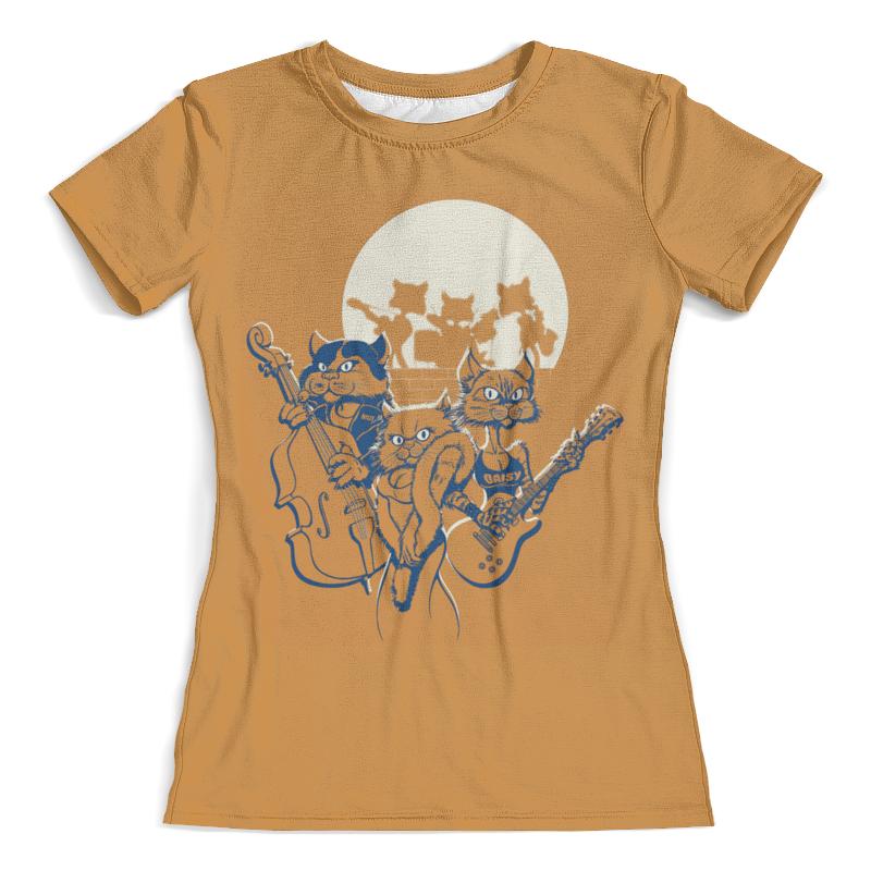 Фото - Футболка с полной запечаткой (женская) Printio Кошачий концерт футболка с полной запечаткой женская printio кошачий концерт