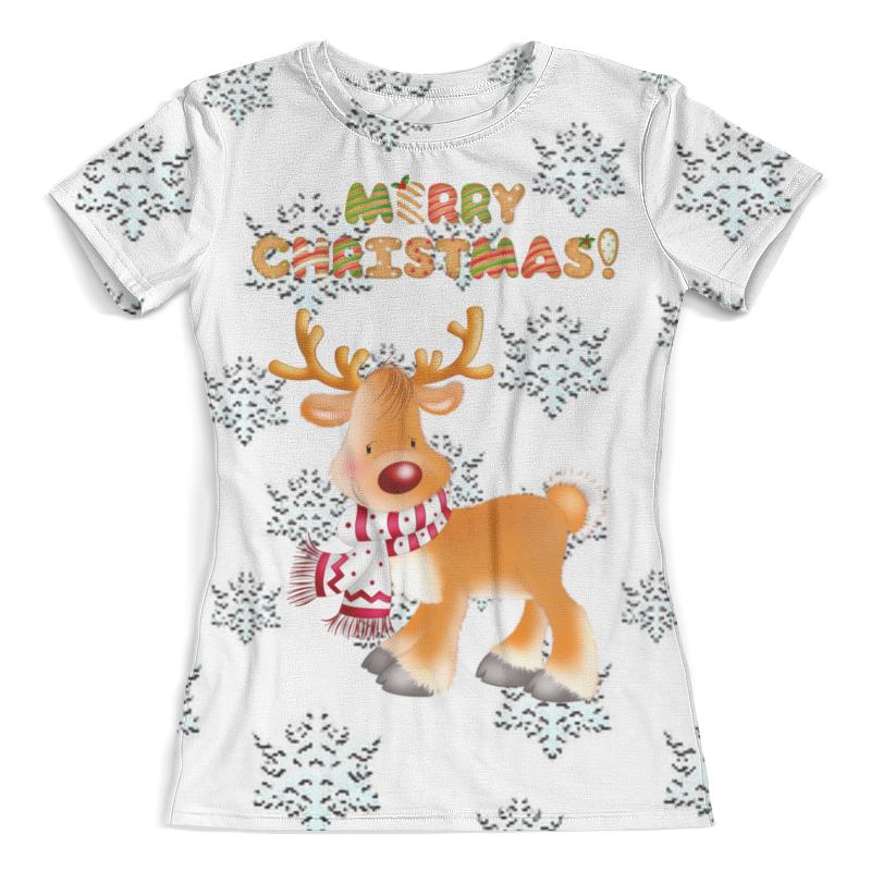 Футболка с полной запечаткой (женская) Printio Merry christmas! футболка с полной запечаткой женская printio a very merry x mas
