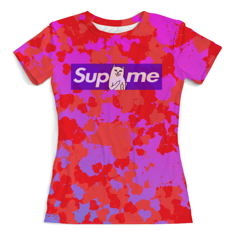 Футболка с полной запечаткой (женская) Printio Supreme краски футболка мужская supreme ny yankees supreme box tee