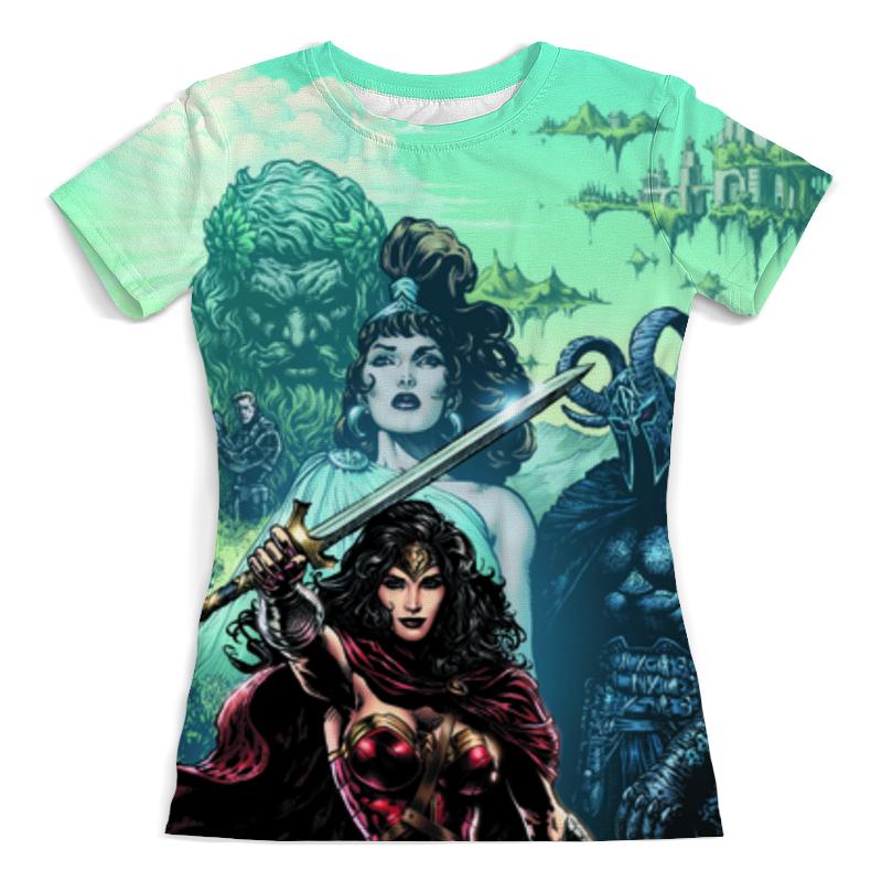 Футболка с полной запечаткой (женская) Printio Чудо-женщина (wonder woman) футболка с полной запечаткой женская printio чудо женщина wonder woman