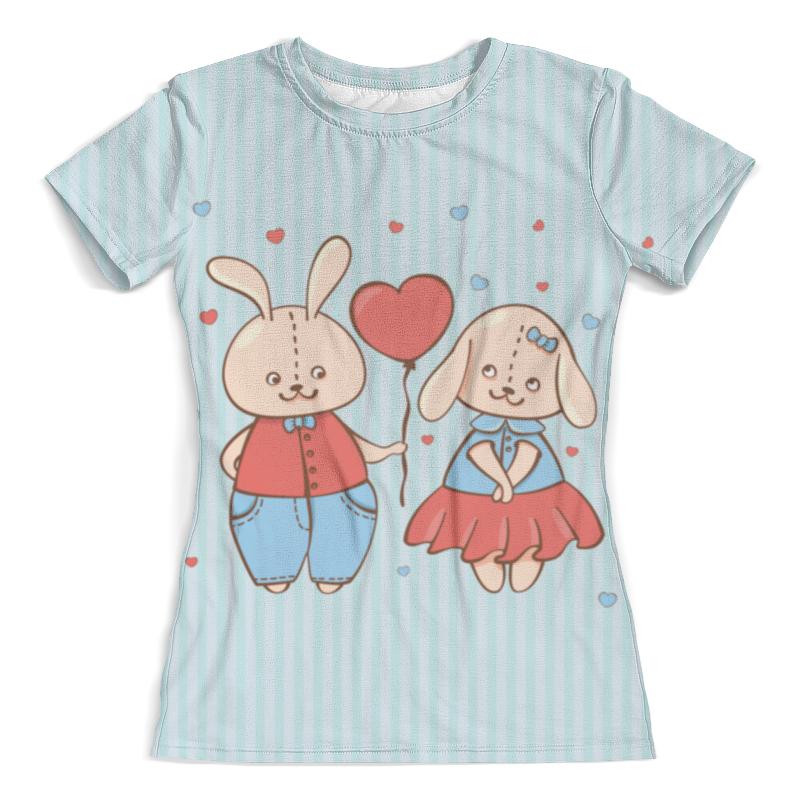 Футболка с полной запечаткой (женская) Printio Влюбленные зайцы. парные футболки. футболка с полной запечаткой мужская printio зайцы