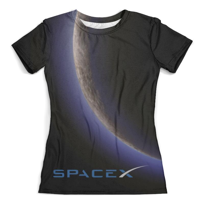 Футболка с полной запечаткой (женская) Printio Spacex. dragon цены