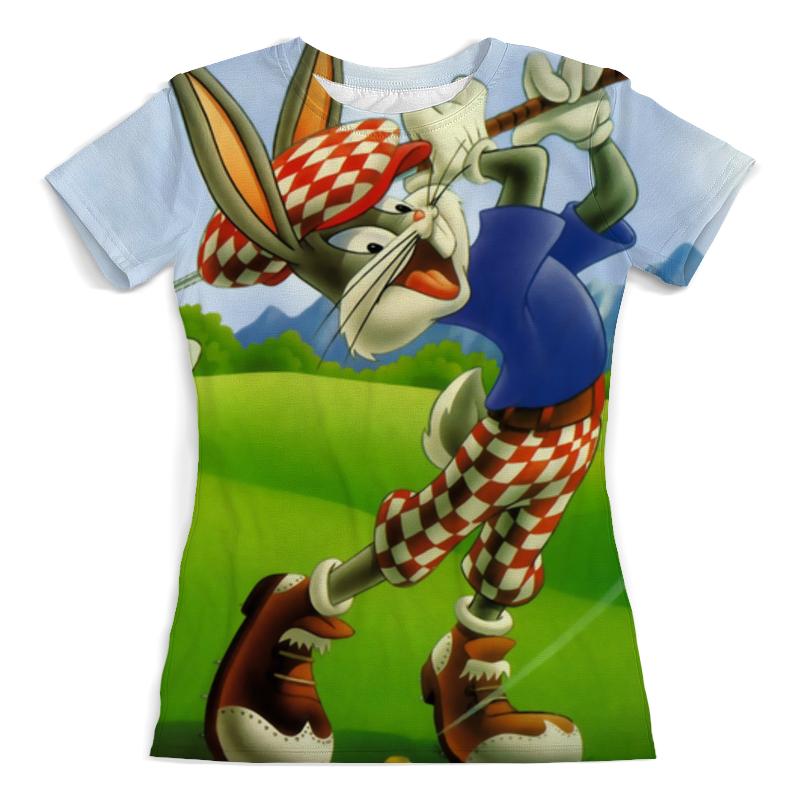 Футболка с полной запечаткой (женская) Printio Кролик гольфист (1) футболка с полной запечаткой мужская printio тигр гольфист 1