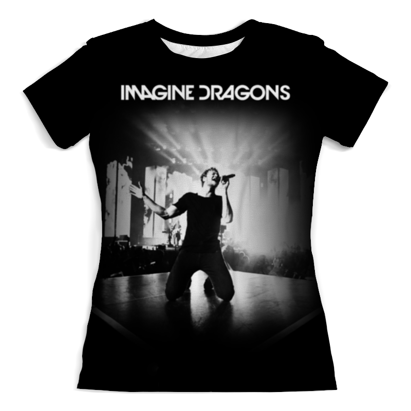 Футболка с полной запечаткой (женская) Printio Imagine dragons