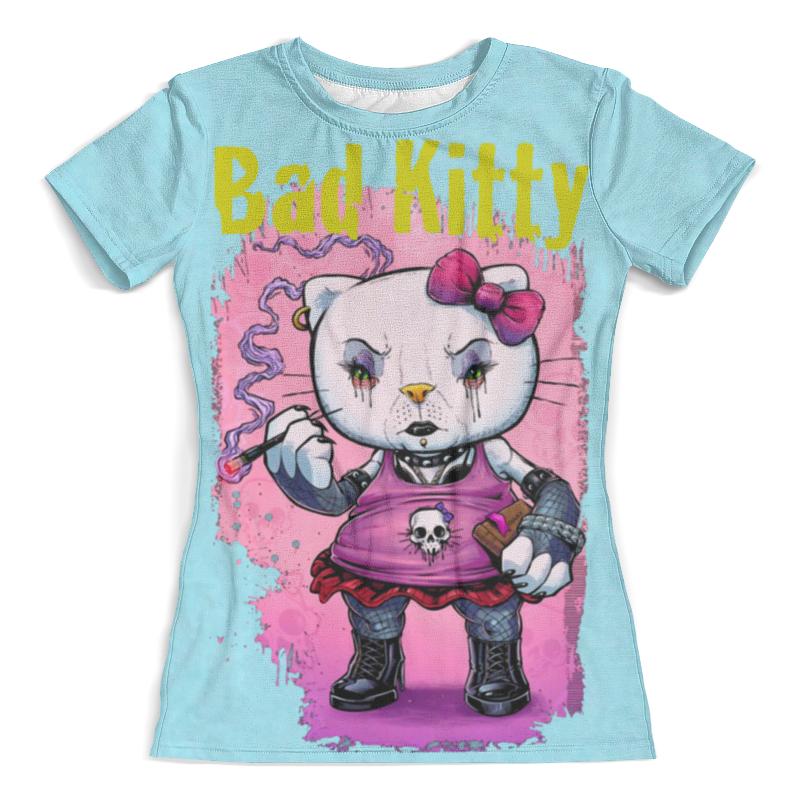 Футболка с полной запечаткой (женская) Printio Bad kitty футболка с полной запечаткой женская printio hello kitty