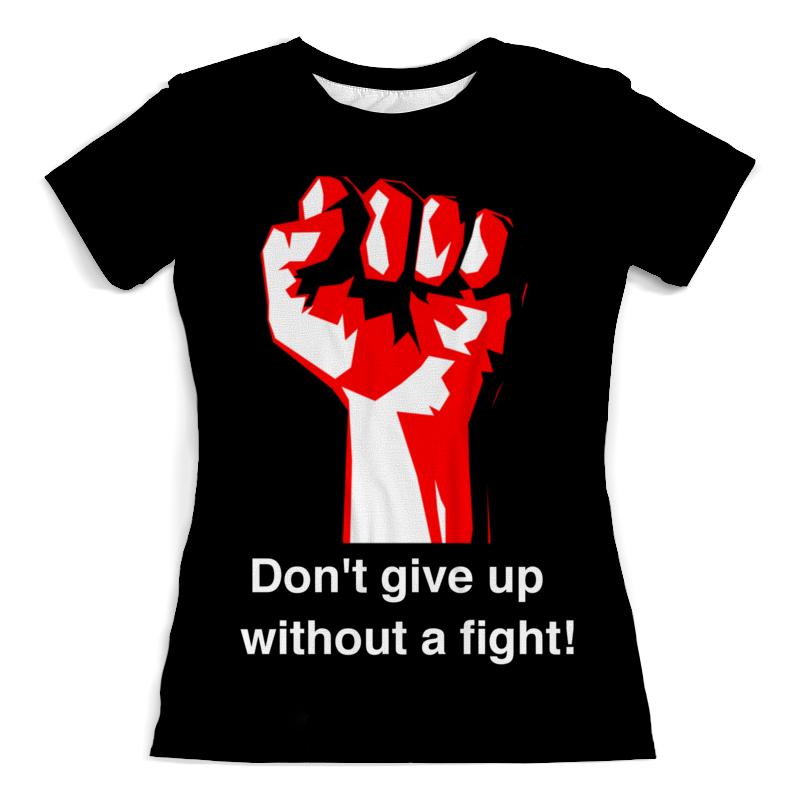 Футболка с полной запечаткой (женская) Printio Don't give up without a fight. бойцовский клуб цены онлайн