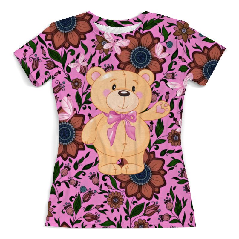 Printio Мишка и бабочки футболка с полной запечаткой женская printio мишка и бабочки