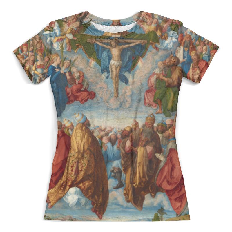 Футболка с полной запечаткой (женская) Printio Поклонение святой троице (альбрехт дюрер)