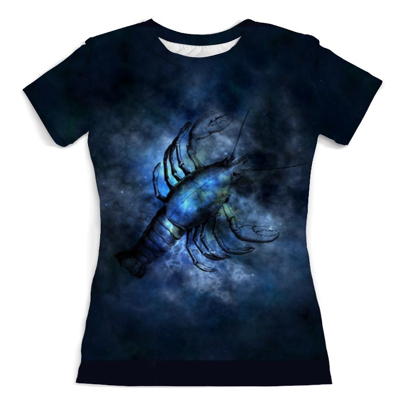 Фото - Футболка с полной запечаткой (женская) Printio Созвездие рака футболка с полной запечаткой женская printio созвездие рака