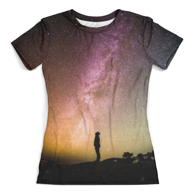 Футболка с полной запечаткой (женская) Printio Вселенная футболка с полной запечаткой женская printio вселенная