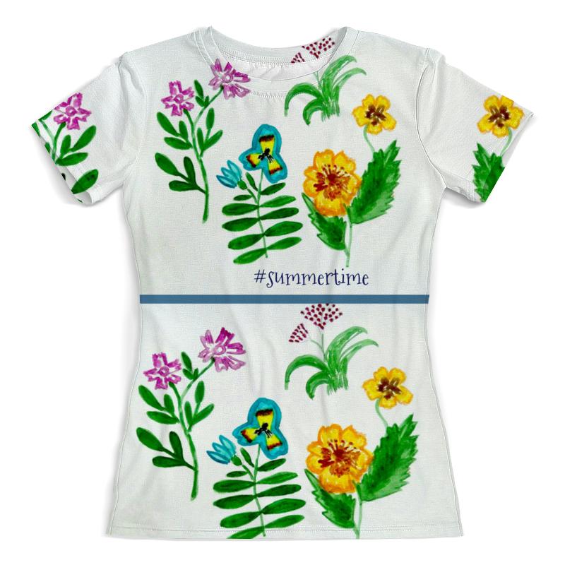 Футболка с полной запечаткой (женская) Printio Футболка футболка полевые цветы цена 2017