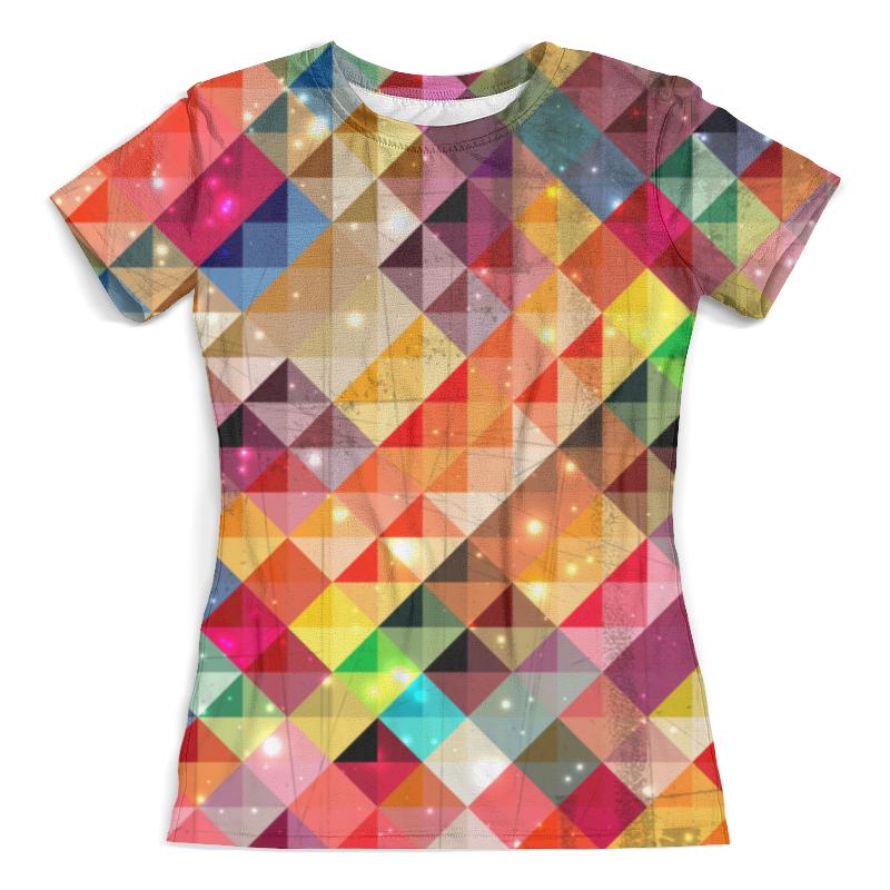 Футболка с полной запечаткой (женская) Printio Цветные треугольники