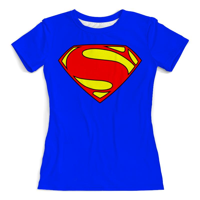 Футболка с полной запечаткой (женская) Printio Supergirl цена и фото