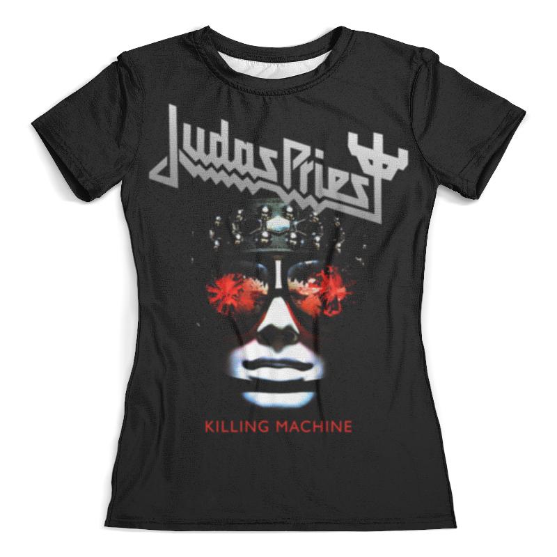 Футболка с полной запечаткой (женская) Printio Judas priest, музыка, рок, группы, метал, футболка с полной запечаткой женская printio judas priest