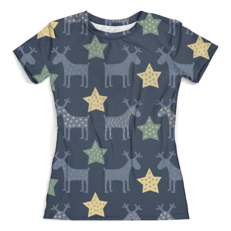 Футболка с полной запечаткой (женская) Printio Новогодние олени футболка print bar новогодние олени