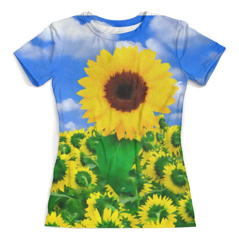 Футболка с полной запечаткой (женская) Printio Подсолнух футболка с полной запечаткой женская printio подсолнух
