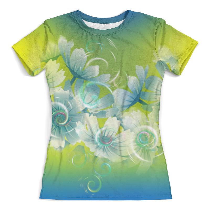 Футболка с полной запечаткой (женская) Printio Цветочное настроение лета