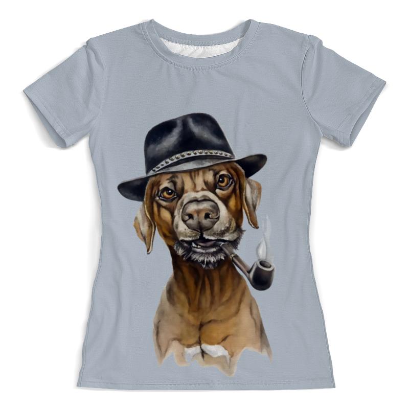Printio Пес с трубкой футболка с полной запечаткой женская printio пес летчик
