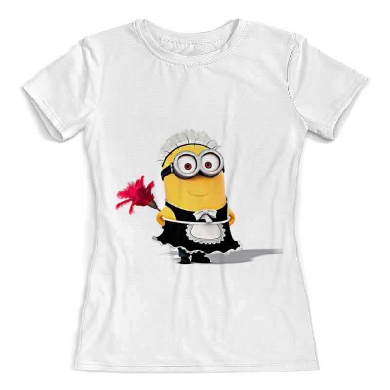 Футболка с полной запечаткой (женская) Printio Миньон футболка с полной запечаткой женская printio снегурочка миньон новогодние парные
