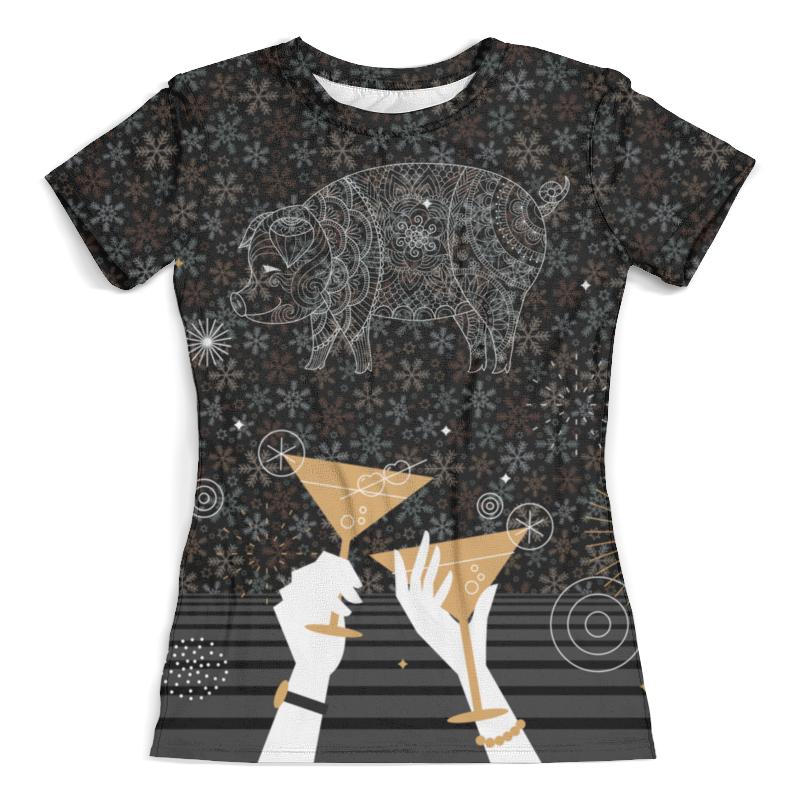 Футболка с полной запечаткой (женская) Printio С новым годом! (символ) футболка с полной запечаткой женская printio battlefield v