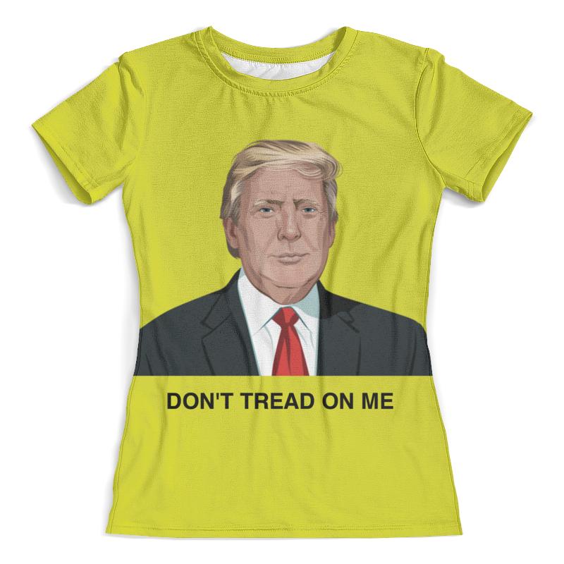 Футболка с полной запечаткой (женская) Printio Trump. dont tread on me. дональд трамп цена 2017