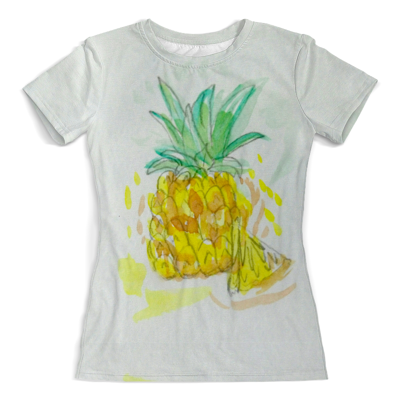 Футболка с полной запечаткой (женская) Printio Ананас футболка с рисунком ананас 100