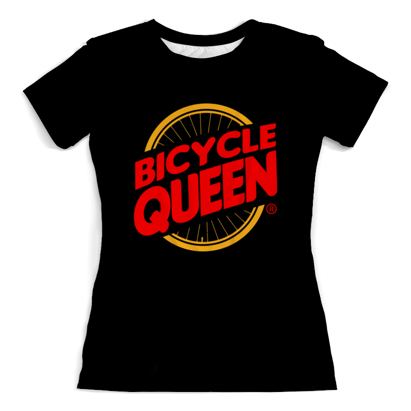 Футболка с полной запечаткой (женская) Printio Велосипедная королева цена