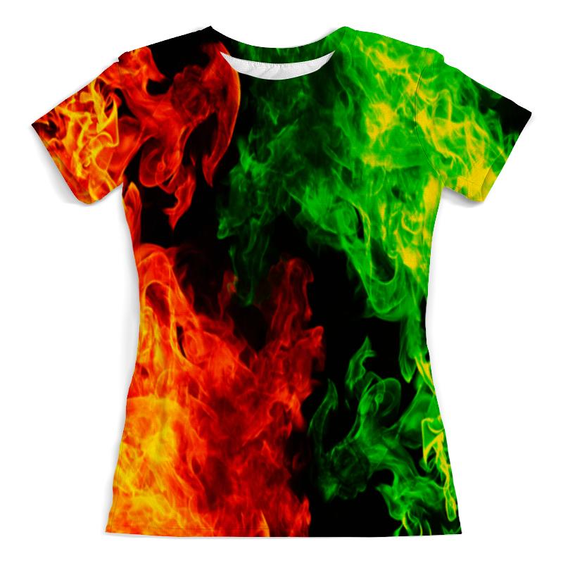 Футболка с полной запечаткой (женская) Printio Битва огней футболка с полной запечаткой женская printio битва огней кони айленд джозеф стелла