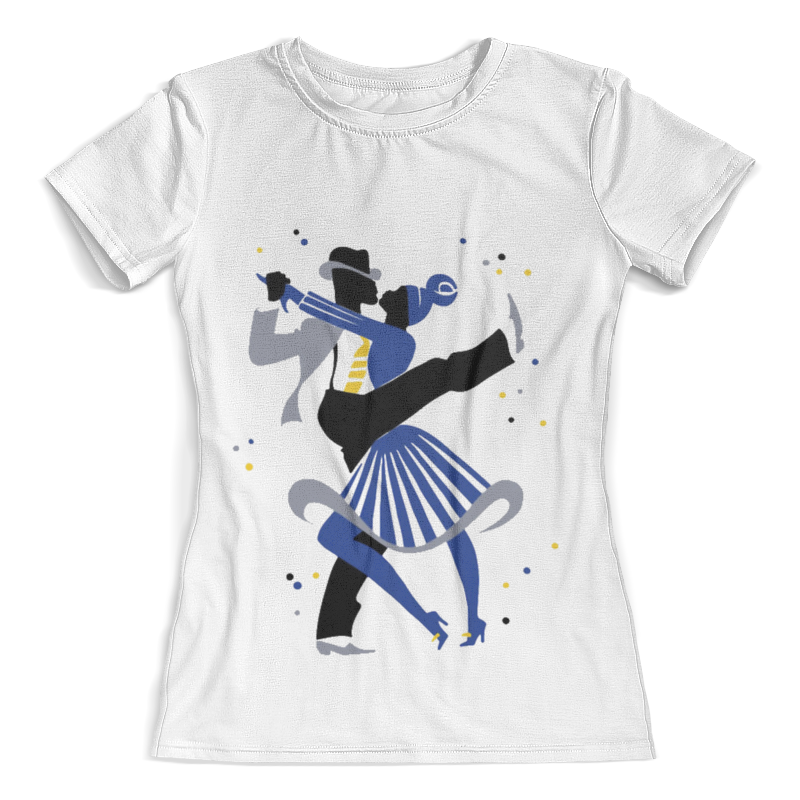 Футболка с полной запечаткой (женская) Printio Танцы. линди-хоп цены
