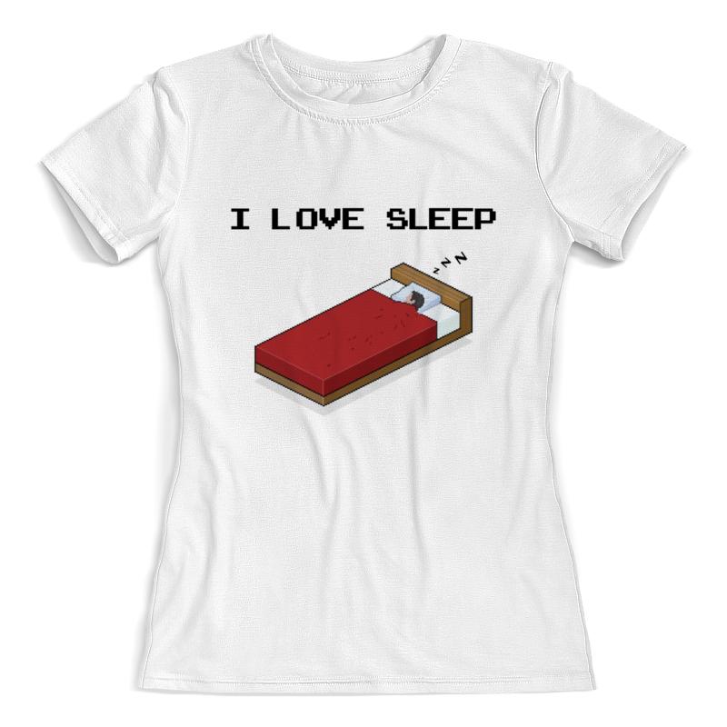 Футболка с полной запечаткой (женская) Printio i love sleep пиксель арт футболка с полной запечаткой женская printio пиксель арт разноцветный паттерн