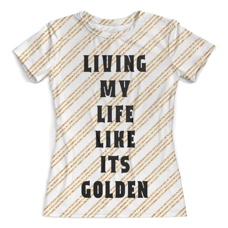 Футболка с полной запечаткой (женская) Printio Золотая жизнь