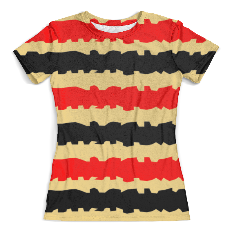 Футболка с полной запечаткой (женская) Printio Полоски с рванными краями футболка в полоску женская