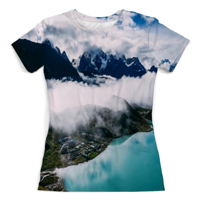 Printio Туман в горах футболка с полной запечаткой женская printio крепость в горах