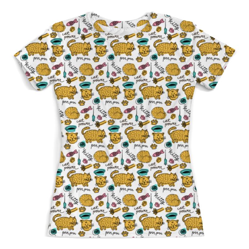 Printio Коты и рыбки футболка с полной запечаткой женская printio кораловые рыбки