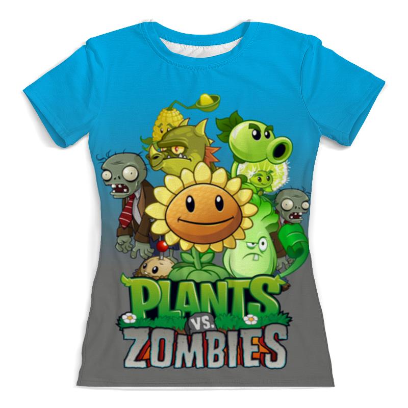 Футболка с полной запечаткой (женская) Printio Plants vs zombies наушники вкладыши jazwares plants vs zombies earbuds