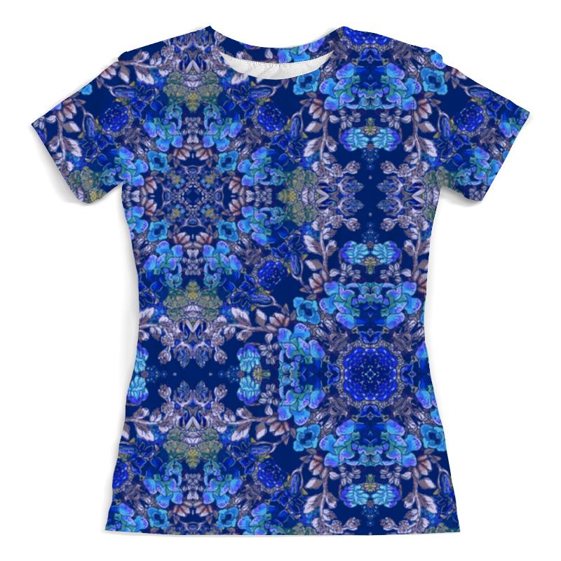 Футболка с полной запечаткой (женская) Printio Красивый растительный цветочный орнамент, паттерн футболка с полной запечаткой женская printio паттерн толстой